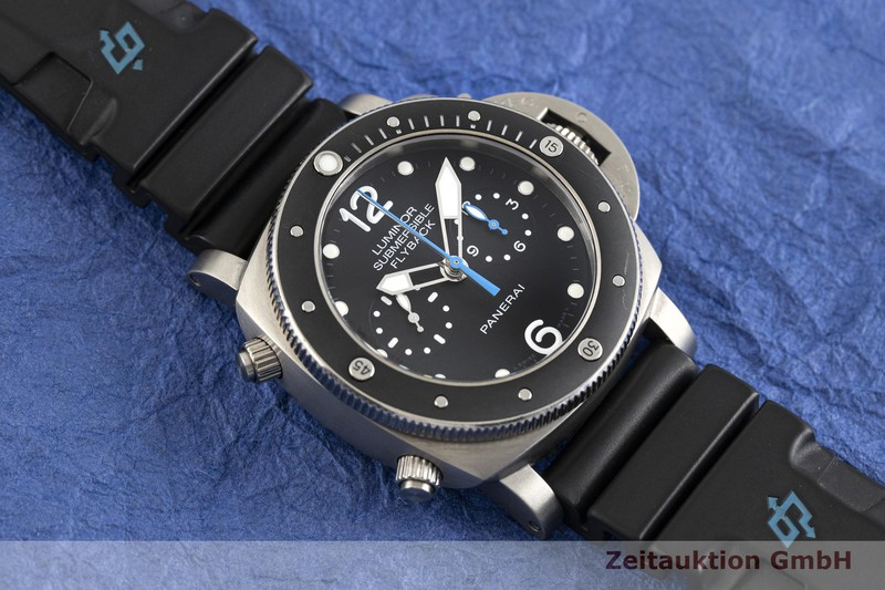 gebrauchte Luxusuhr Panerai Luminor Submersible Chronograph Titan Automatik Kal. P.9100 Ref. PAM00615, OP7025 LIMITED EDITION | 2004051 _1