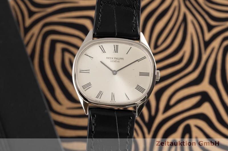 gebrauchte Luxusuhr Patek Philippe Ellipse 18k Weissgold Handaufzug Kal. 23-300 Ref. 3545  | 2004059 _0