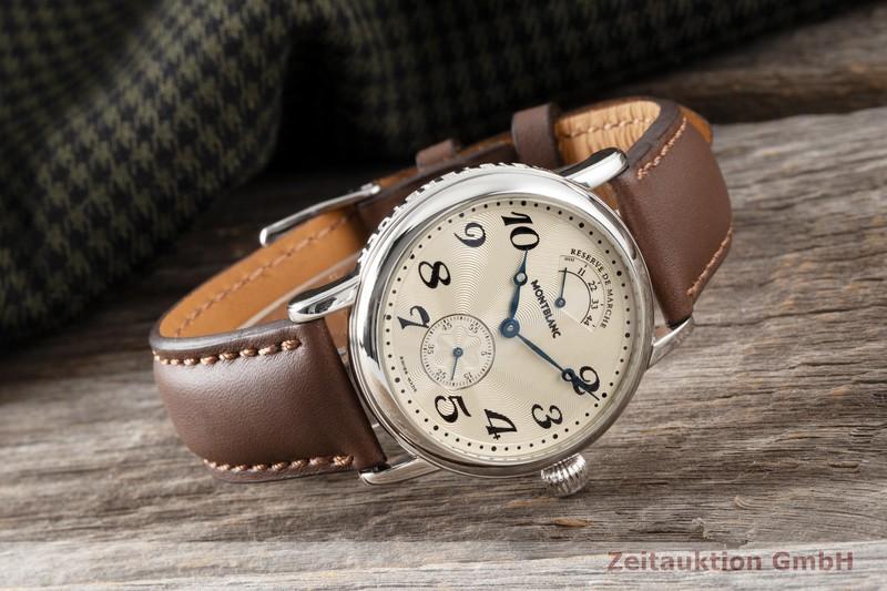 gebrauchte Luxusuhr Montblanc Meisterstück Stahl Handaufzug Kal. 4810901 Ref. 7022  | 2004065 _1