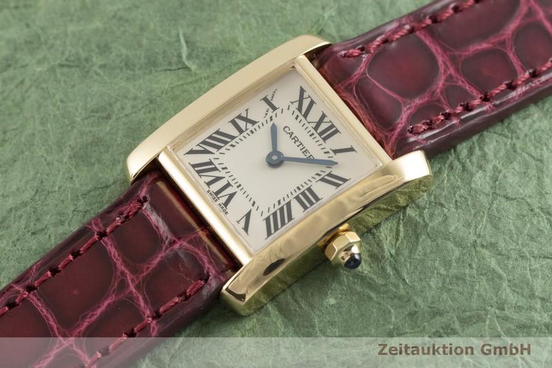 gebrauchte Luxusuhr Cartier Tank Francaise 18k Gold Quarz Kal. 057 Ref. 2385    2004083 _0