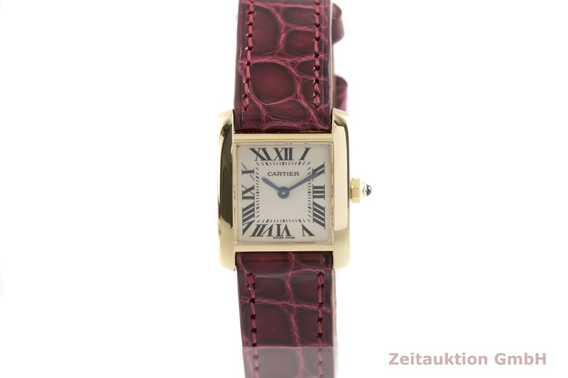 gebrauchte Luxusuhr Cartier Tank Francaise 18k Gold Quarz Kal. 057 Ref. 2385    2004083 _1