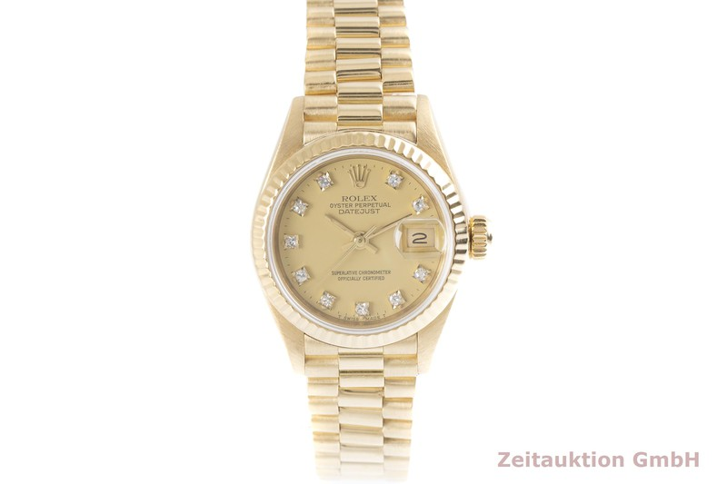 gebrauchte Luxusuhr Rolex Lady Datejust 18k Gold Automatik Kal. 2135 Ref. 69178  | 2004119 _1