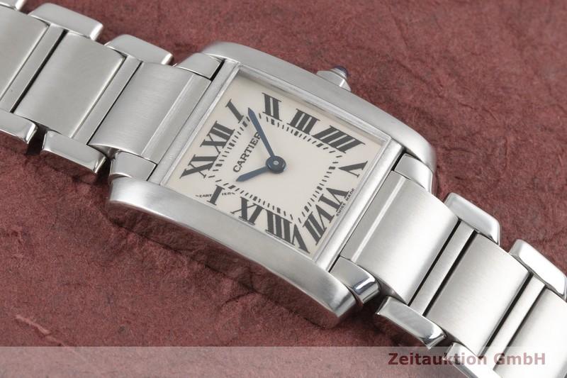 gebrauchte Luxusuhr Cartier Tank Francaise Stahl Quarz Kal. 057 Ref. 2384  | 2004121 _1