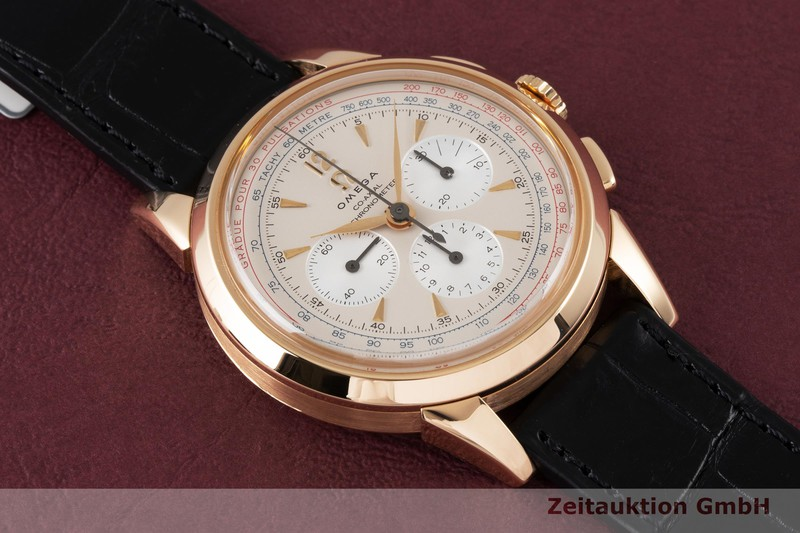 gebrauchte Luxusuhr Omega Museum Chronograph 18k Gold Handaufzug Kal. 3201A Ref. 516.53.39.50.02.001, 147.2008 LIMITED EDITION | 2004139 _1