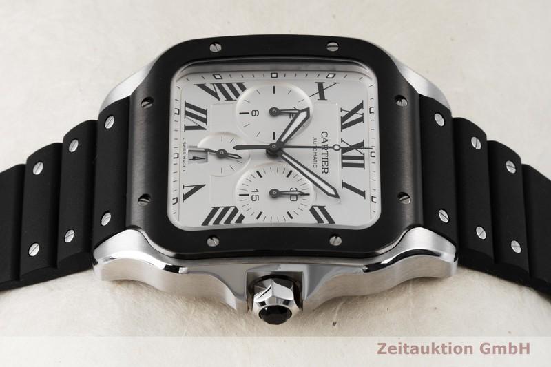gebrauchte Luxusuhr Cartier Santos Chronograph Stahl Automatik Kal. 1904 CH MC Ref. 4183  | 2004145 _0
