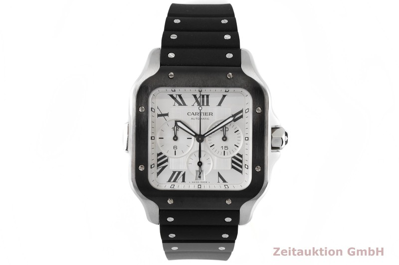 gebrauchte Luxusuhr Cartier Santos Chronograph Stahl Automatik Kal. 1904 CH MC Ref. 4183  | 2004145 _1