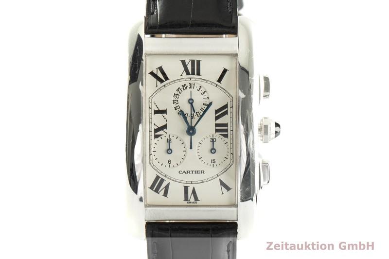 gebrauchte Luxusuhr Cartier Tank Américaine Chronograph 18k Weissgold Quarz Kal. 212P Ref. 2312    2004146 _0