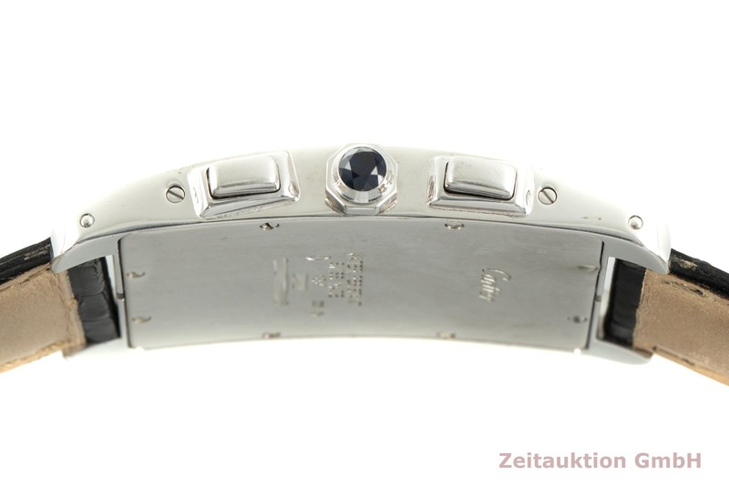gebrauchte Luxusuhr Cartier Tank Américaine Chronograph 18k Weissgold Quarz Kal. 212P Ref. 2312    2004146 _1