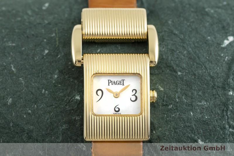 gebrauchte Luxusuhr Piaget Protocol 18k Gold Quarz Kal. 57P Ref. 5221    2004150 _1