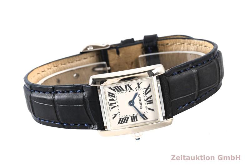 gebrauchte Luxusuhr Cartier Tank Francaise 18k Weissgold Quarz Kal. 057 Ref. 2403    2004173 _0