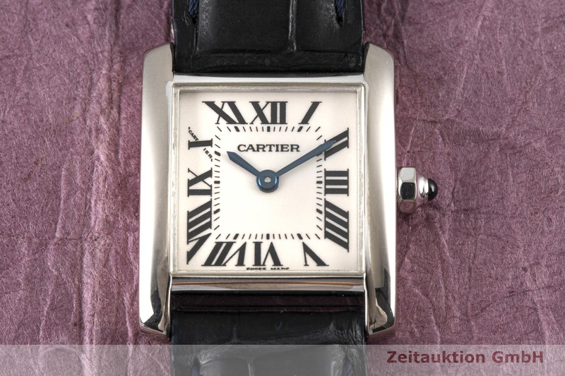 gebrauchte Luxusuhr Cartier Tank Francaise 18k Weissgold Quarz Kal. 057 Ref. 2403    2004173 _1