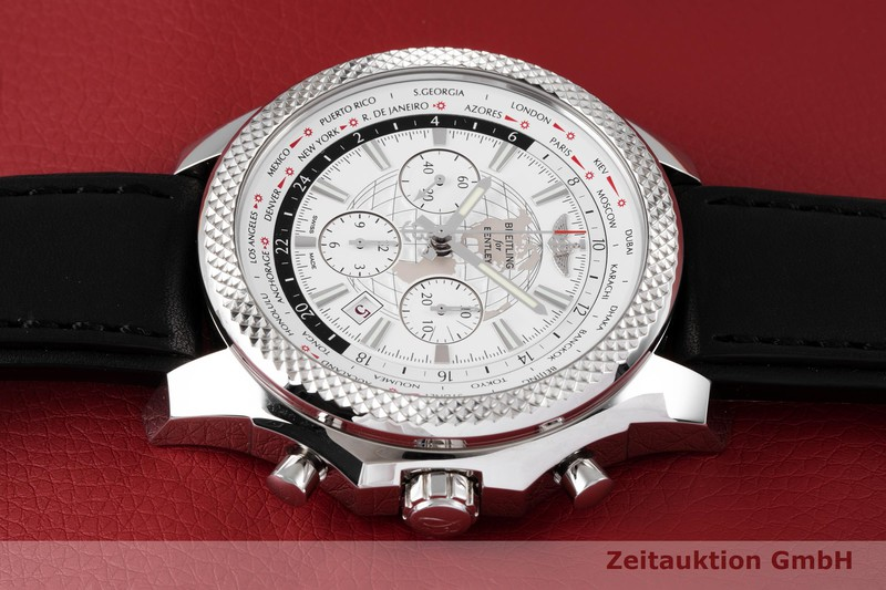 gebrauchte Luxusuhr Breitling Bentley Chronograph Stahl Automatik Kal. B05 Ref. AB0521  | 2004204 _0