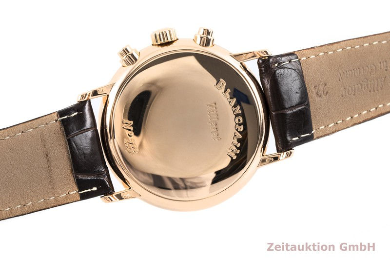 gebrauchte Luxusuhr Blancpain Villeret Chronograph 18k Rotgold Automatik Kal. 1188 Ref. 4082-3642-55  | 2004250 _0