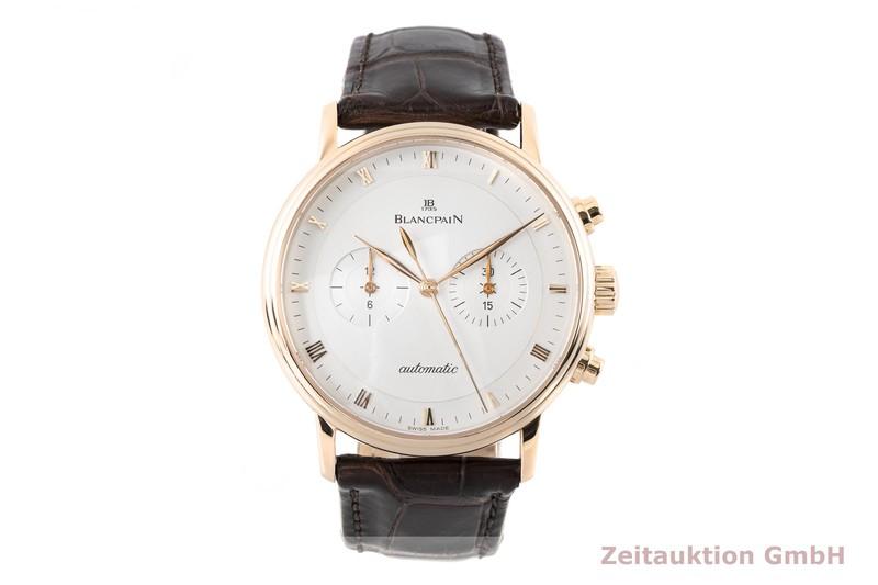 gebrauchte Luxusuhr Blancpain Villeret Chronograph 18k Rotgold Automatik Kal. 1188 Ref. 4082-3642-55  | 2004250 _1