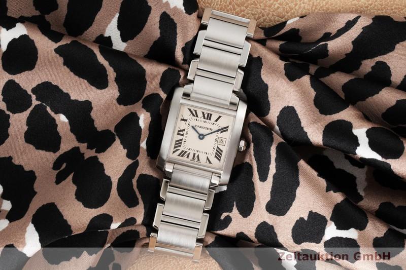 gebrauchte Luxusuhr Cartier Tank Francaise Stahl Quarz Kal. 175L Ref. 2465  | 2004255 _1