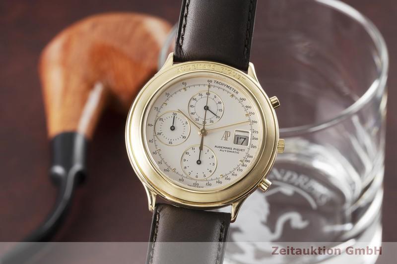 gebrauchte Luxusuhr Audemars Piguet Huitieme Chronograph 18k Gold Automatik Kal. 2126 Ref. C83021  | 2004315 _0