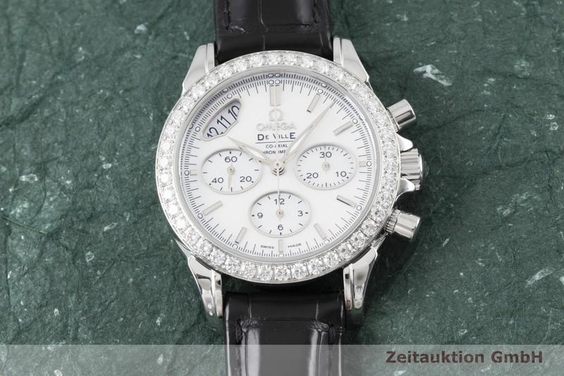 gebrauchte Luxusuhr Omega De Ville Chronograph Stahl Automatik Kal. 3313 Ref. 422.18.35.50.05.002  | 2004344 _1