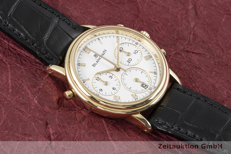 gebrauchte Luxusuhr Blancpain Villeret Chronograph 18k Gold Automatik Kal. 1186    2004374 _1