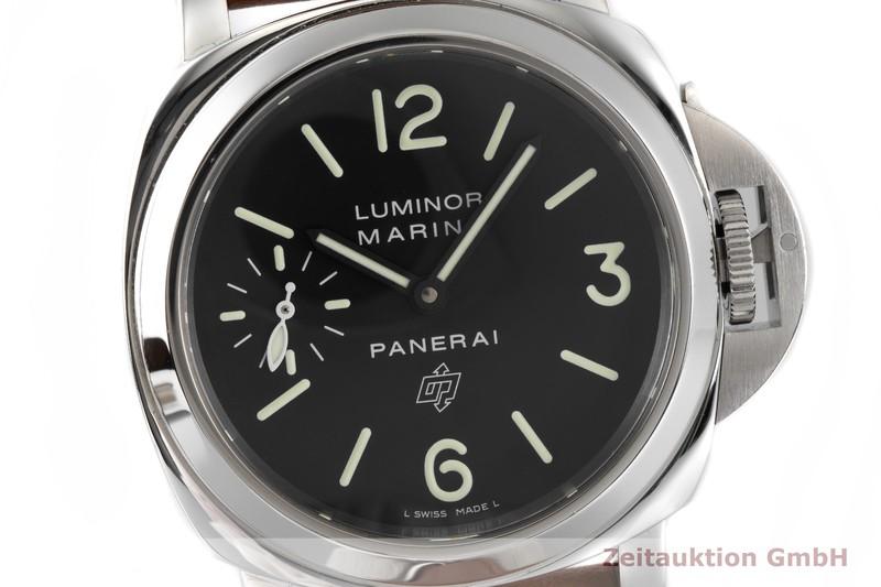 gebrauchte Luxusuhr Panerai Luminor Marina Stahl Handaufzug Kal. ETA 6497-2 Ref. PAM1005, OP7040  | 2004384 _0