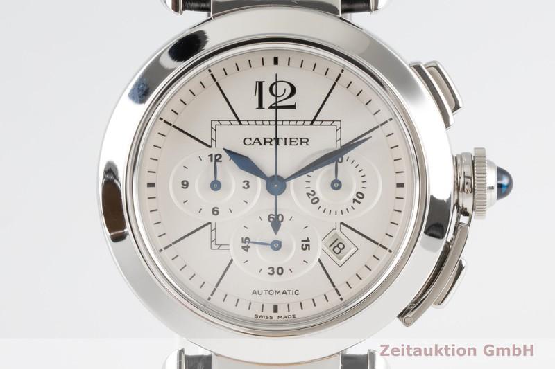 gebrauchte Luxusuhr Cartier Pasha Chronograph Stahl Automatik Kal. 8100 MC Ref. 2860    2004423 _0