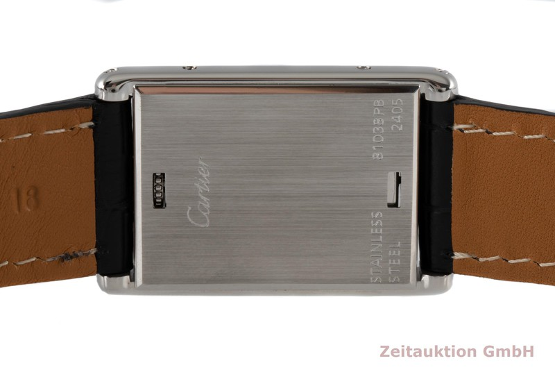 gebrauchte Luxusuhr Cartier Basculante Stahl Quarz Kal. 059 Ref. 2405    2004432 _1