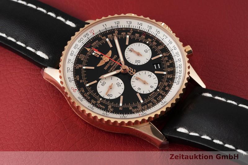gebrauchte Luxusuhr Breitling Navitimer 01 Chronograph 18k Rotgold Automatik Ref. RB0120  | 2004469 _1