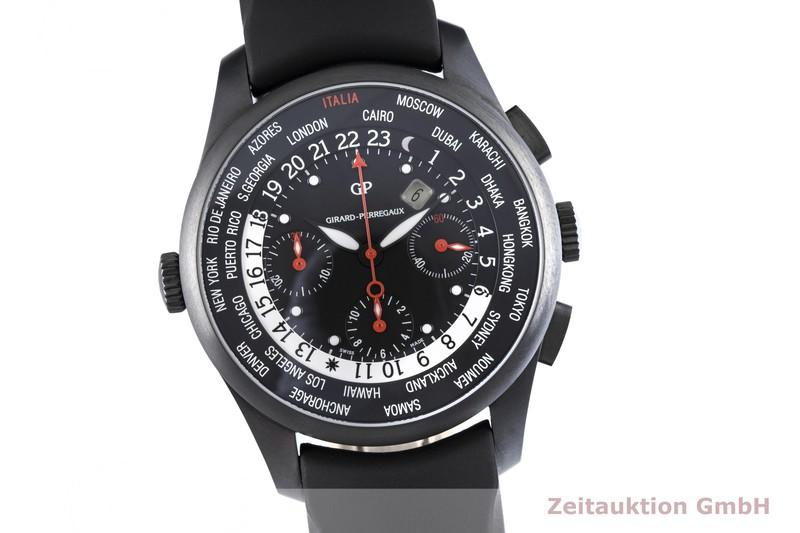 gebrauchte Luxusuhr Girard Perregaux World Time Chronograph Titan Automatik Kal. 3387 Ref. 49805  | 2004490 _0