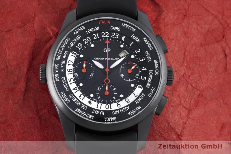 gebrauchte Luxusuhr Girard Perregaux World Time Chronograph Titan Automatik Kal. 3387 Ref. 49805  | 2004490 _1