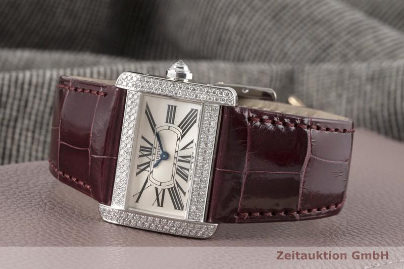 gebrauchte Luxusuhr Cartier Tank Divan 18k Weissgold Quarz Kal. 157 Ref. 2613  | 2004552 _1