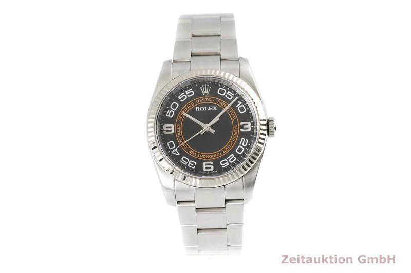 gebrauchte Luxusuhr Rolex Oyster Perpetual Stahl / Weissgold Automatik Kal. 3130 Ref. 116034    2004574 _0