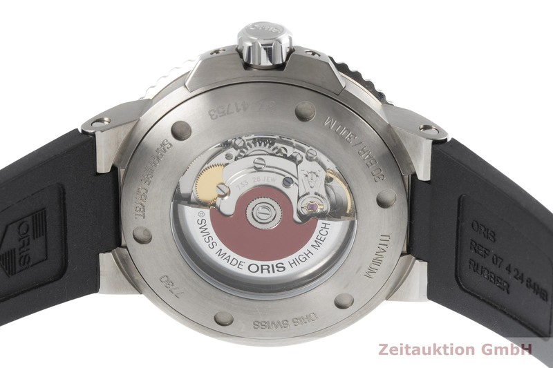 gebrauchte Luxusuhr Oris Aquis Date Titan Automatik Kal. 733 Ref. 0173377307153, 7730  | 2004642 _0
