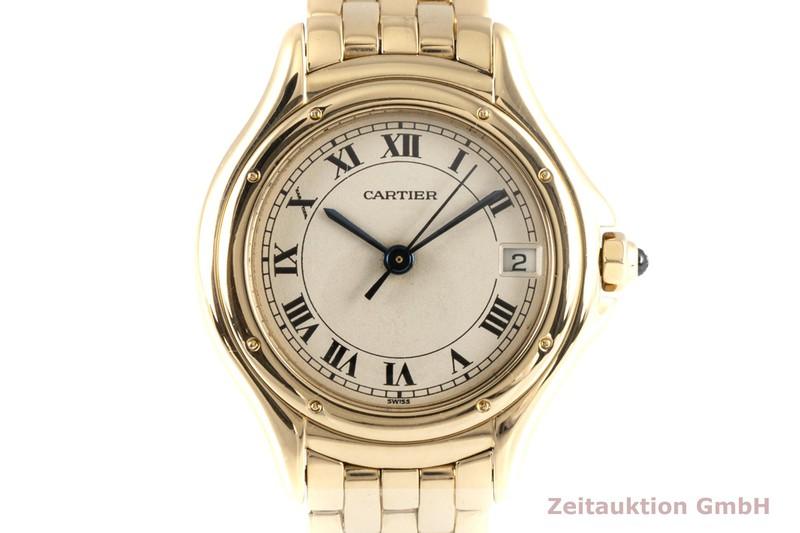 gebrauchte Luxusuhr Cartier Cougar 18k Gold Quarz Kal. 87 Ref. 887906    2004645 _0