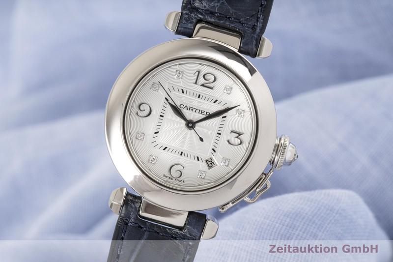 gebrauchte Luxusuhr Cartier Pasha 18k Weissgold Automatik Kal. 500 MC Ref. 2528  | 2004726 _0