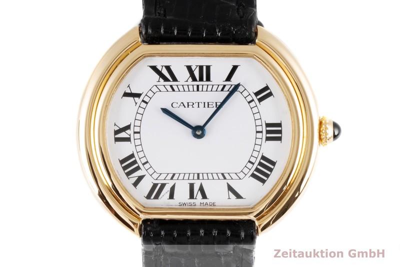 gebrauchte Luxusuhr Cartier Ellipse 18k Gold Handaufzug Kal. 78-1  | 2004728 _0
