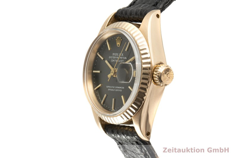 gebrauchte Luxusuhr Rolex Lady Datejust 18k Rotgold Automatik Kal. 2030 Ref. 6917 VINTAGE    2004935 _0