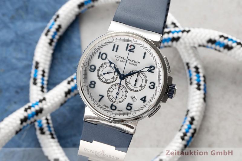 gebrauchte Luxusuhr Ulysse Nardin Marine Chronograph Chronograph Titan Automatik Kal. UN150 Ref. 1503-150  | 2005058 _0
