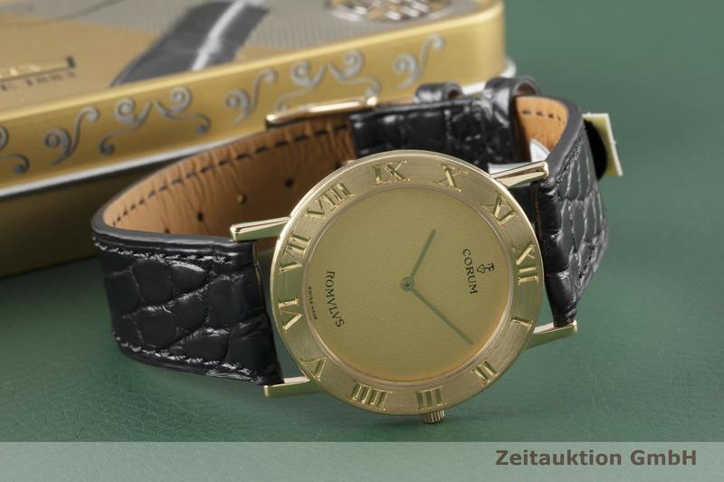 gebrauchte Luxusuhr Corum Romulus 18k Gold Quarz Kal. ETA 210.001 Ref. 50.501.56    2005081 _0