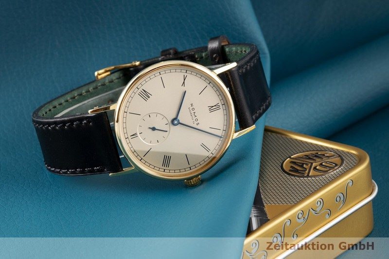 gebrauchte Luxusuhr Nomos Ludwig 18k Gold Handaufzug Kal. ETA 7001 Ref. 211  | 2005083 _0
