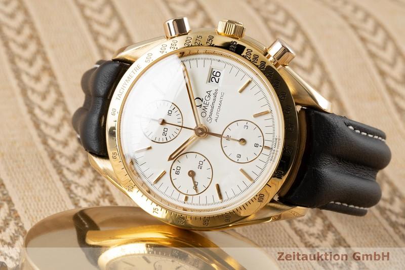 gebrauchte Luxusuhr Omega Speedmaster Date Chronograph 18k Gold Automatik Kal. 1155 Ref. 175.0063, 375.0063    2005118 _0
