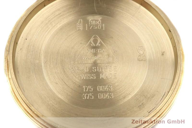 gebrauchte Luxusuhr Omega Speedmaster Date Chronograph 18k Gold Automatik Kal. 1155 Ref. 175.0063, 375.0063    2005118 _1