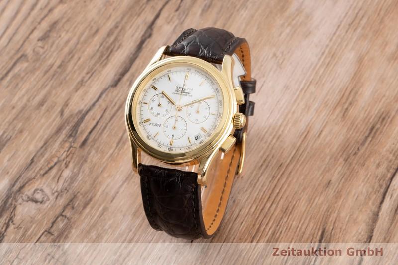 gebrauchte Luxusuhr Zenith El Primero Chronograph 18k Gold Automatik Kal. 400 Ref. 30.0220.400 LIMITED EDITION | 2005137 _0