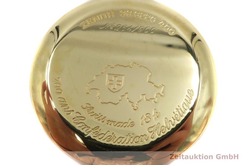 gebrauchte Luxusuhr Zenith El Primero Chronograph 18k Gold Automatik Kal. 400 Ref. 30.0220.400 LIMITED EDITION | 2005137 _1
