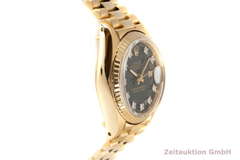 gebrauchte Luxusuhr Rolex Lady Datejust 18k Gold Automatik Kal. 2030 Ref. 6917 VINTAGE    2005214 _0