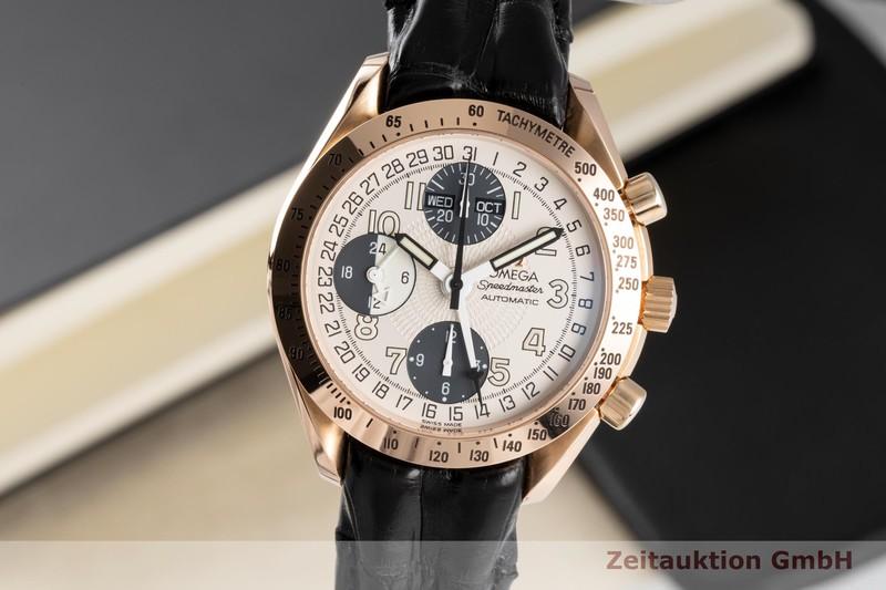 gebrauchte Luxusuhr Omega Speedmaster Chronograph 18k Rotgold Automatik Kal. 1151 Ref. 175.0084  | 2005224 _0
