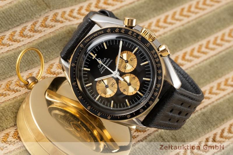 gebrauchte Luxusuhr Omega Speedmaster Moonwatch Chronograph Stahl / Gold Handaufzug Kal. 861 Ref. ST145.022 LIMITED EDITION   2005310 _0