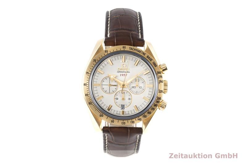 gebrauchte Luxusuhr Omega Speedmaster Chronograph 18k Gold Automatik Kal. 3313 Ref. 178.0020    2005366 _0