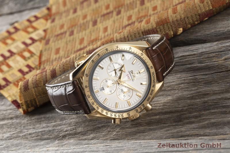 gebrauchte Luxusuhr Omega Speedmaster Chronograph 18k Gold Automatik Kal. 3313 Ref. 178.0020    2005366 _1