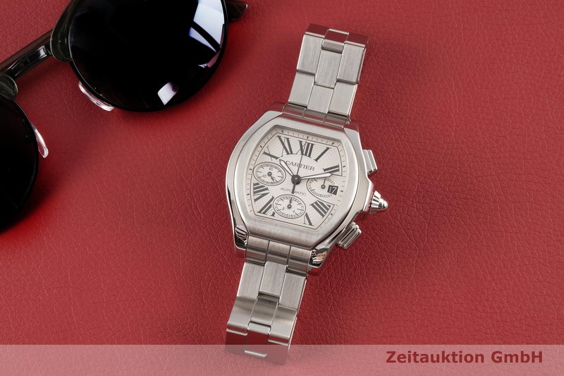 gebrauchte Luxusuhr Cartier Roadster Chronograph Stahl Automatik Kal. 8630 Ref. 3405  | 2005409 _0