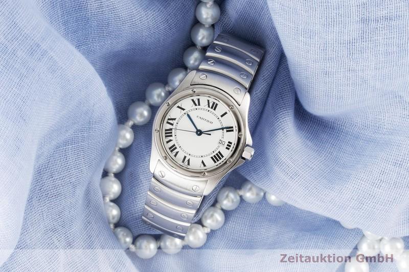 gebrauchte Luxusuhr Cartier Santos Ronde Stahl Quarz Kal. 87.06 Ref. 15611  | 2005530 _0
