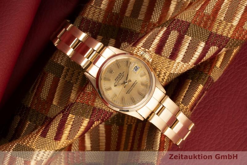 gebrauchte Luxusuhr Rolex Lady Datejust 18k Gold Automatik Kal. 1161 Ref. 6516 VINTAGE  | 2005701 _0